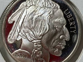 Buffalo 1 oz Round   1 Troy Ounce  999 Fine Silver   Very Nice