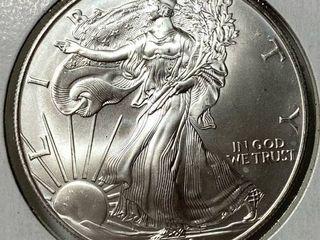 2000 Silver Eagle Dollar   1 oz of  999 fine Silver