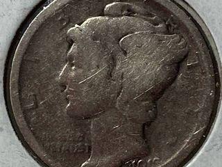 1918 D Mercury Head Silver Dime