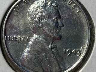 1943  SIlVER COlOR  lincoln Wheat Cent war Penny US Coin   Nice