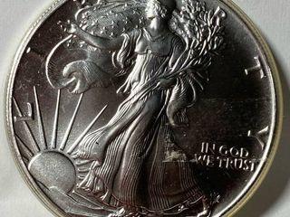 1991 Silver Eagle Dollar   1 oz of  999 fine Silver