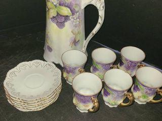 Porcelain China Tea Set 14 pcs