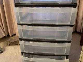 Small six drawer storage unit