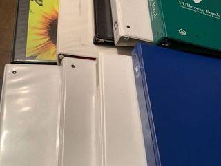 Assorted looseleaf binders
