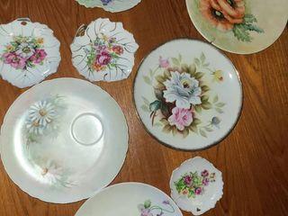 Decorative Floral Plates  8 pcs