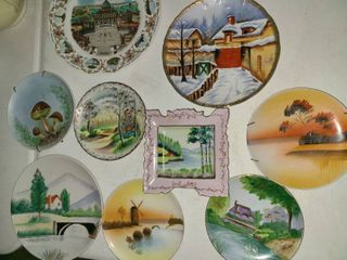 9 pcs  Scenery Plates