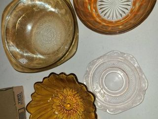 4 Pcs  Orange Pink Dinnerware