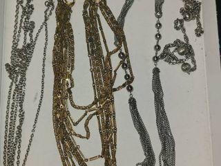 3 Necklaces  Costume Jewelry  1 is broken
