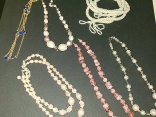 Beaded Necklaces  Costume Jewelry 6 pcs