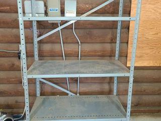 Metal Shelves  5 Shelf  6ft tall x 3ft  wide x 8  deep