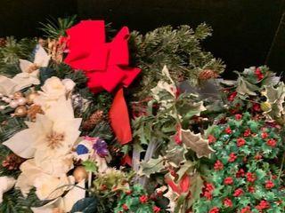 Assorted Christmas greenery