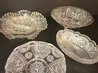 5 pcs  Variety of Glass Bowls