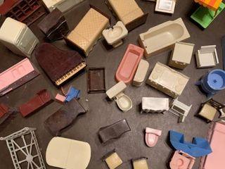 Assorted dollhouse toys