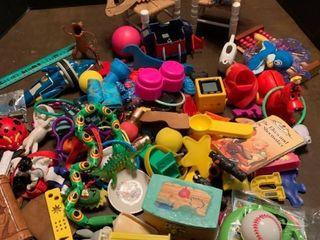 A lot of grab bag toys