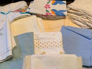 Assortment of pillowcases