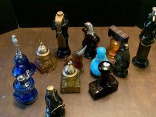 Assorted Avon perfume bottles
