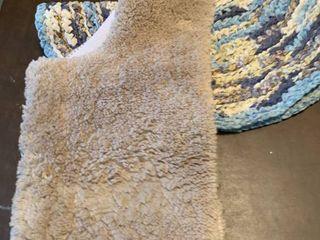 Two bathroom rugs