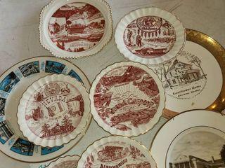 Souvenir Plates  Total of 9 plates