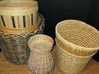 Wicker Baskets 6 pcs
