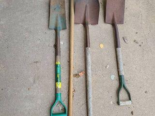 Shovels  3 Dirt Shovels and 1 Snow Shovel