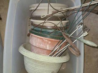 q0 Pcs  Plastic Hanging Baskets