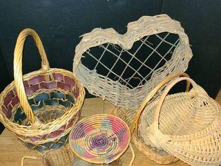 Wicker Baskets  8 pcs