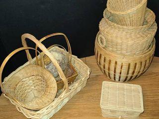 Wicker Baskets 10 pcs