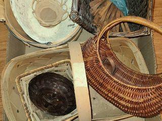 Wicker Baskets  9 pcs