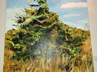 Acrylic Art by Hermine Greywall   Red Cedar  28  x 22