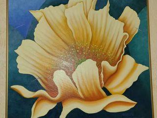 Oil Maureen Walter  Kechi Cactus Flower  24 x 24