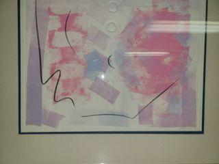 Mono Print by Judy Dove  Pink Andante  22 x 26