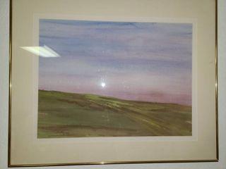 Watercolor by Sieler   Twilight   26 x 32