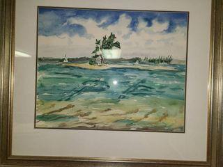 Watercolor by Judy Dove Virginian Key 39 x 35