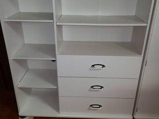 White Storage Cabinet Missing Door 50 x 46 x 15 5