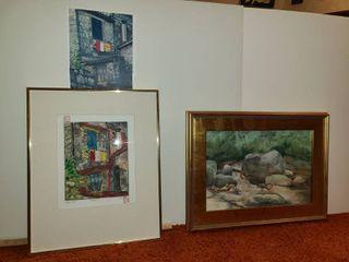 2 Mono Prints by Judy Dove