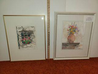2 Judy Dove Framed Art Pieces