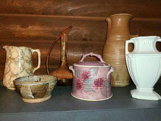 7 pcs  Pottery