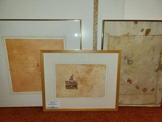3 Framed Umbria Fragments Art Pieces