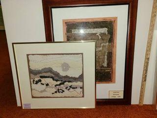 2 Framed Collages