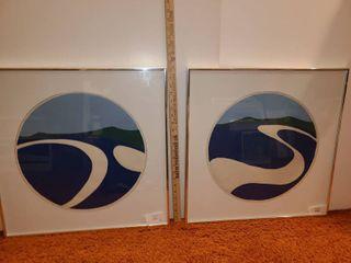 2 Wood Cut Art Pieces