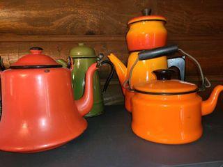 4 Pcs  Metal Coffee Pots