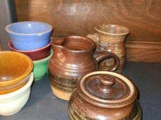 9 Pcs  Miscellaneous Pottery