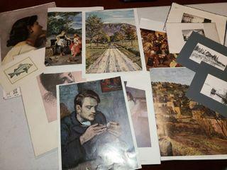 large variety of artwork 13 pcs