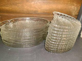 Glass Snack Plates  19 Pcs