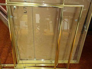 4 Golden Frames  1 has plexiglass in it
