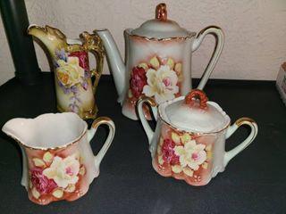 Floral China Tea Set  6 Pcs