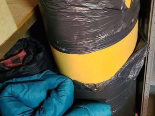Foam and 2 Sleeping Bags