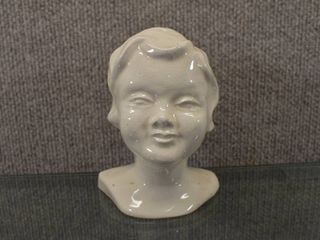 Vintage Ceramic Head Statue Of little Boy   5 1 2