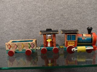 Vintage lot of 3 Fisher Price Huffy Puffy Train 3 Piece 1963   Fisher Price   Engines   Cars