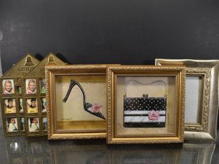 Vintage lot of 5 Picture Frame lot   Decor Items